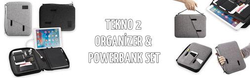 Tekno 2 - Organizer & Powerbank Promosyon Set